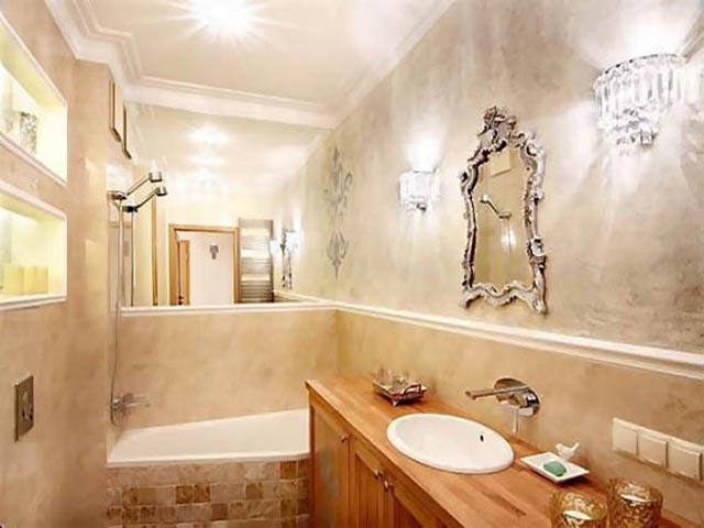 Использование декоративной штукатурки в ванной