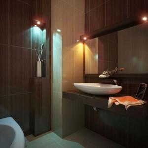 Декоративность линий модерна для ванной