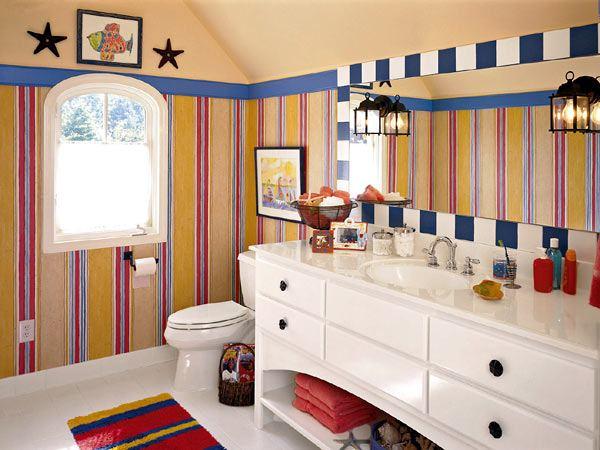 обои для ванной комнаты: