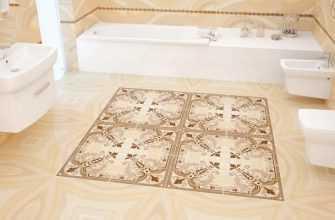 Какая бывает напольная плитка для ванной