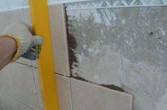 Ровняем стены под плитку в ванной комнате