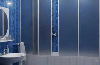Пластиковые шторки для ванной комнаты