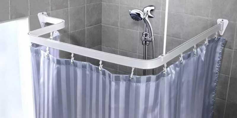 Шторка для ванной угловая